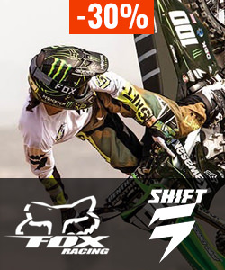 Soldes moto cross fox & shift 2017