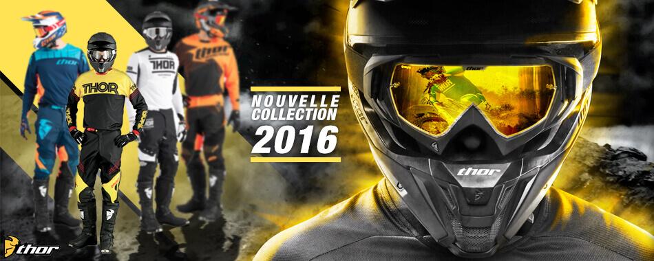 Maillot, pantalon, gant, casque motocross thor